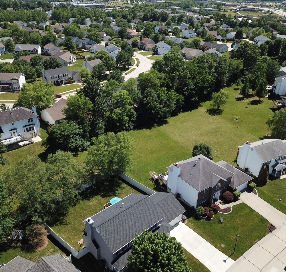 image showing a arial view of a neighborhood